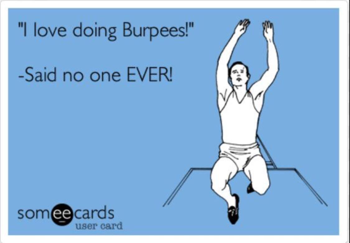 love burpees quote